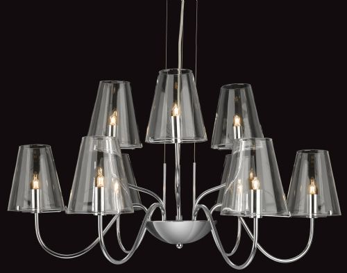 Firstlight 4234CH Chrome with Clear Glass Jasmine 9 Light Fitting